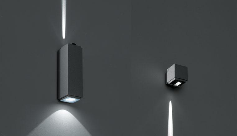 Effetto a parete design in luce for Iguzzini esterno