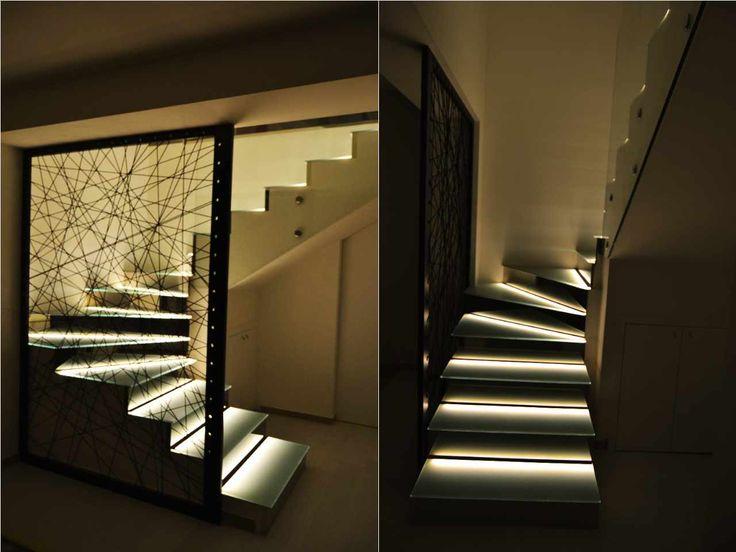 Led strip design in luce - Illuminazione scala interna ...