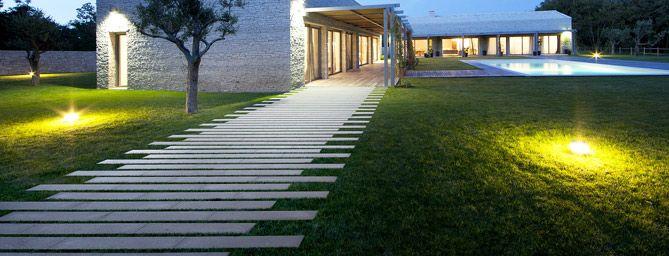 Masselli e lastre per pavimentazioni design in luce - Design giardini esterni ...